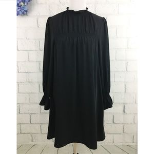 & Other Stories Black Long Sleeve Loose Fit Dress